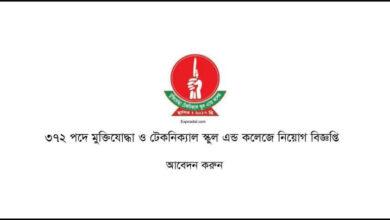Muktijoddha Technical School & College Circular