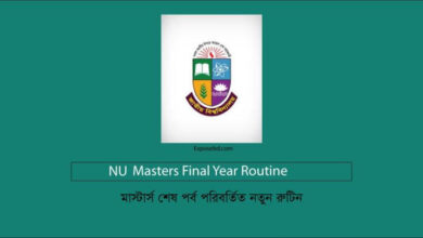NU Masters Final Year Routine